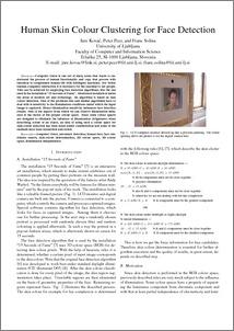 Human skin color clustering for face detection - ePrints FRI
