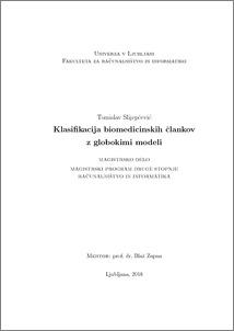 Deep Models for Classification of Biomedical Documents